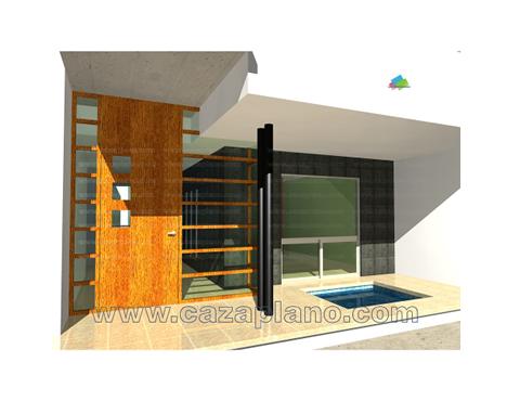 Casa minimalista 3 pisos con piscina casas en queretaro for Render casa minimalista